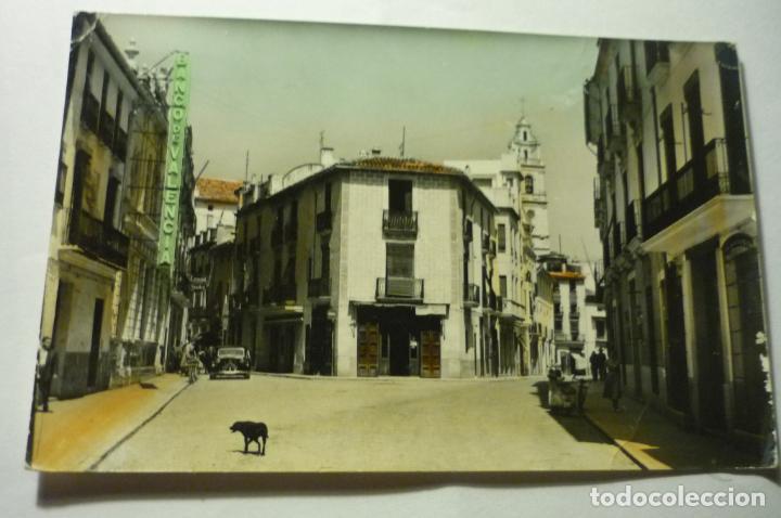 POSTAL CARCAGENTE .-CALLE J.RIVERA CIRCULADA COLOREADA (Postales - España - Comunidad Valenciana Moderna (desde 1940))