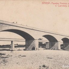Postales: POSTAL GANDÍA -PUENTES NUEVOS SOBRE EL SERPIS - FOT. THOMAS. Lote 211601624
