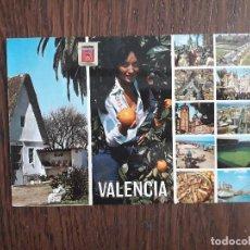 Postales: POSTAL DE ESPAÑA, DIFERENTES VISTAS DE VALENCIA.. Lote 211632589