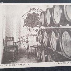 Postales: HIJOS DE PONS HERMANOS-VALENCIA-ESTAND DE LA FERIA DE MUESTRAS-SOLERA 1899. Lote 211662020