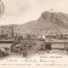Postales: ALICANTE 10059 VISTA GENERAL EDITA P.Z. CIRC. 1905. Lote 211671035
