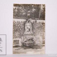 Postales: ANTIGUA POSTAL FOTOGRÁFICA - 26. ALCOY. FUENTE DE LA FONT ROJA - JDP, VALENCIA - NO CIRCULADA. Lote 213237266
