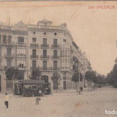 Postales: POSTAL VALENCIA .- CALLE DE COLON -FOT.THOMAS NUM. 134 - TRANVÍA-. Lote 213959306