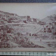 Postales: SAGUNTO CASTELLÓN, RUINAS DEL TEATRO - RARA FOTOGRAFÍA IMPRESA EN FRANCIA ANTIGUA. Lote 214292137