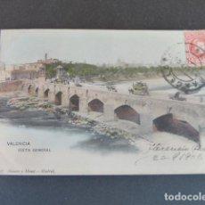 Postales: VALENCIA VISTA GENERAL HAUSER Y MENET SIN DIVIDIR ILUMINADA. Lote 215977075