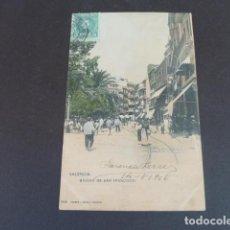 Postales: VALENCIA BAJADA DE SAN FRANCISCO HAUSER Y MENET SIN DIVIDIR ILUMINADA. Lote 215977343