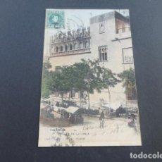 Postales: VALENCIA DETALLE DE LA LONJA HAUSER Y MENET SIN DIVIDIR ILUMINADA. Lote 215977991