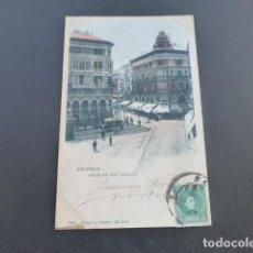 Postales: VALENCIA CALLE DE SAN VICENTE HAUSER Y MENET SIN DIVIDIR ILUMINADA. Lote 215978091