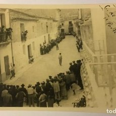 Postales: BICORP. 1929. PARTIDO DE PELOTA. CALLE DE LA IGLESIA. POSTAL FOTOGRÁFICA.. Lote 217531752