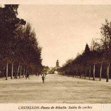 Postales: CASTELLÓN. PASEO DE RIBALTA, SALÓN DE COCHES. EDITOR M. ARRIBAS. Lote 218543015