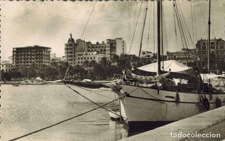 ALICANTE. PUERTO. Nº 2018, ED. MEDITERRÁNEO. FOTOGRÁFICA. MANUSCRITA (Postales - España - Comunidad Valenciana Moderna (desde 1940))