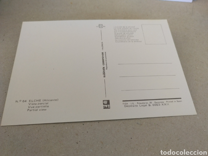 Postales: Postal de Alicante 1979. Elche Vista Parcial. Sin Circular - Foto 2 - 220364172