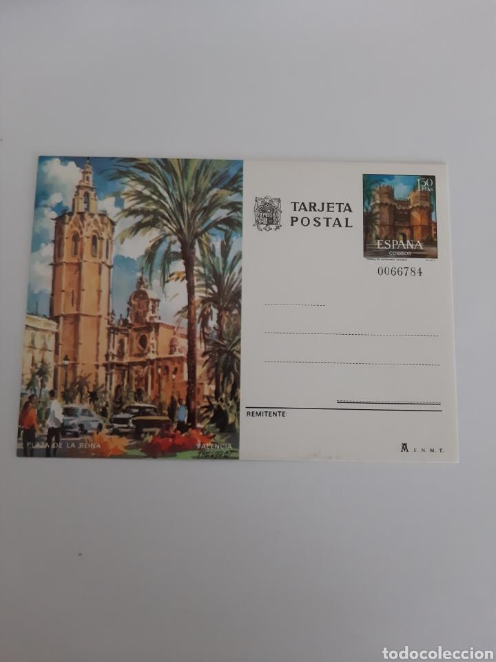 VALENCIA PLAZA DE LA REINA ENTERO POSTAL 1974 EDIFIL 105 FILATELIA COLISEVM (Postales - España - Comunidad Valenciana Moderna (desde 1940))
