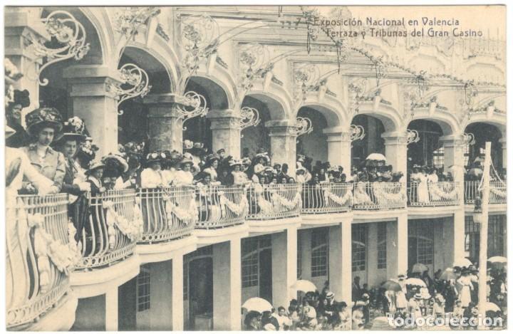 EXPOSICIÓN NACIONAL EN VALENCIA. TERRAZA Y TRIBUNAS DEL GRAN CASINO Nº 7. THOMAS. (Postales - España - Comunidad Valenciana Antigua (hasta 1939))