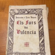 Postales: LIBRO ELS FURS DE VALENCIA 1930. Lote 221599348
