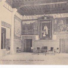 Postales: VALENCIA GANDIA PALACIO DEL SANTO DUQUE Nº 5, SALON DE CORONAS. Lote 221605178