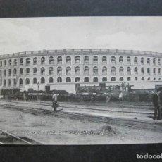 Postales: VALENCIA-PLAZA DE TOROS-EXTERIOR-FERROCARRIL-POSTAL ANTIGUA-VER FOTOS-(74.946). Lote 221824538