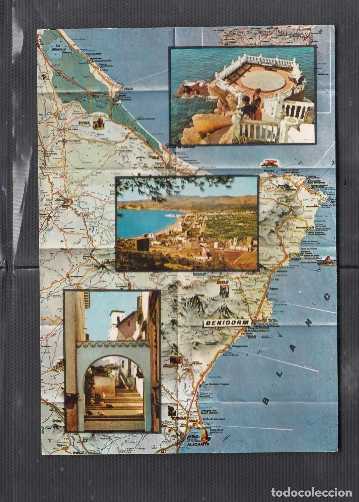 Nº 101.BENIDORM. MAPA (Postales - España - Comunidad Valenciana Moderna (desde 1940))