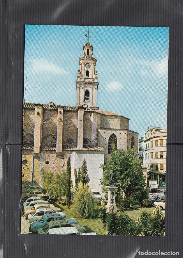 55 GANDIA. PLAZA DEL CAUDILLO Y COLEGIATA (Postales - España - Comunidad Valenciana Moderna (desde 1940))