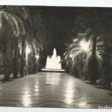 Postales: POSTAL FOTOGRAFICA DE ALICANTE- EXPLANADA DE ESPAÑA Y FUENTE LUMINOSA NOCTURNA- ARRIBAS 1102. Lote 221906201