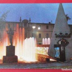 Postales: CASTELLÓN. PL. FADRELL. FUENTE LUMINOSA. 1974.. Lote 221929571