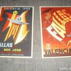 Postales: DOS POSTALES CARTELES DE FALLAS VALENCIA CIRCULADAS. Lote 221956537