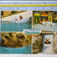 Postales: POSTAL DE ALICANTE. AÑO 1986. BENIDORM, PARQUE DE ATRACCIONES ACUÁTICAS AQUALAND. 1236. Lote 222078373