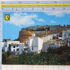Postales: POSTAL DE ALICANTE. AÑO 1972. DENIA DETALLE DEL CASTILLO. 72 ESCUDO ORO. 1238. Lote 222078505