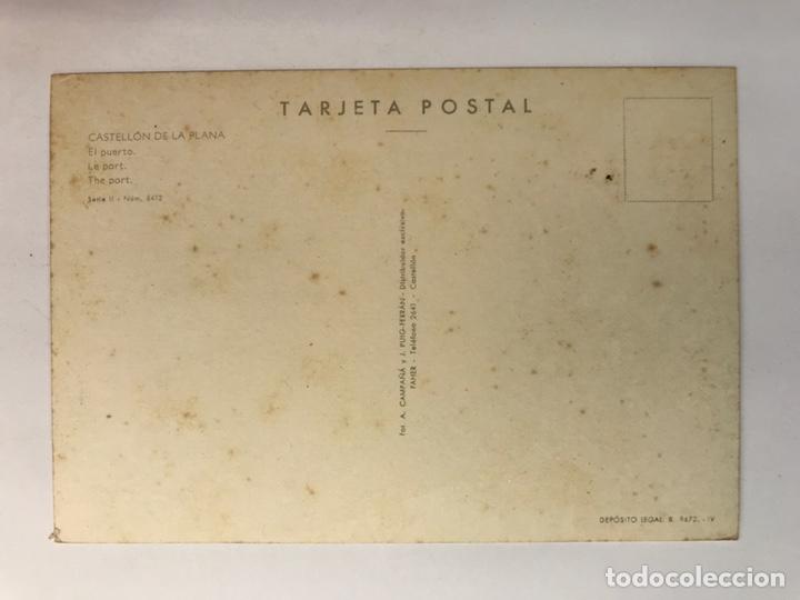 Postales: CASTELLÓN DE LA PLANA. Postal Serie II, No.6412, El Puerto. Edic., Campaña y Puig (h.1960?) S/C - Foto 2 - 222084303
