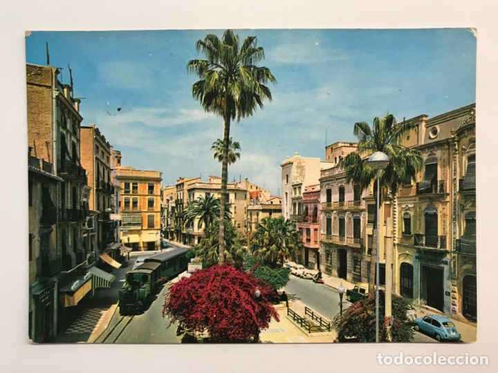 CASTELLÓN, POSTAL NO.2, PLAZA DE LA PAZ. ANIMADA, TRANVÍA. EDIC., MACIAN (A.1964) S/C (Postales - España - Comunidad Valenciana Moderna (desde 1940))