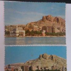 Postales: LOTE DE 2 ANTIGUAS POSTALES FOTOGRÁFICAS, ALICANTE, VISTA PARCIAL, VER FOTOS. Lote 222096988