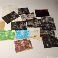 Postales: ¡IRREPETIBLE! VALENCIA TALLER DE ARTISTA FALLERO EL PERGAMINO LOTE DE CLICHÉS DE IMPRENTA + POSITIVO. Lote 222267963
