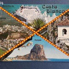 Postales: POSTAL DE COSTA BLANCA (ALICANTE), 11,VISTAS VARIAS, CALPE, DENIA, BENIDORM,GUALDALEST,AÑOS 70 APROX. Lote 222354716