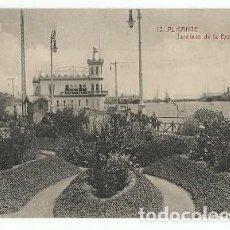 Postales: ANTIGUA POSTAL 15 ALICANTE JARDINES DE LA EXPLANADA CASTAÑEIRA Y ALVAREZ. Lote 222556378