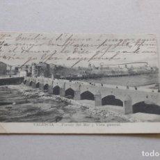 Postales: VALENCIA - PUENTE DEL MAR Y VISTA GENERAL - ESCRITA. Lote 222557987