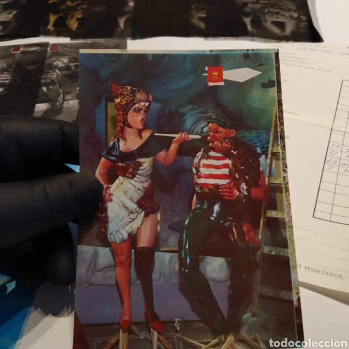 Postales: ¡IRREPETIBLE! Valencia Ninots de Falla EL PERGAMINO Lote de clichés de imprenta + positivo - Foto 17 - 222592410