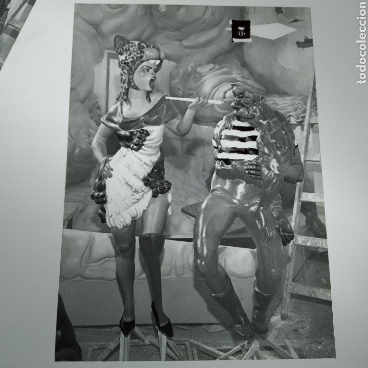 Postales: ¡IRREPETIBLE! Valencia Ninots de Falla EL PERGAMINO Lote de clichés de imprenta + positivo - Foto 7 - 222592410