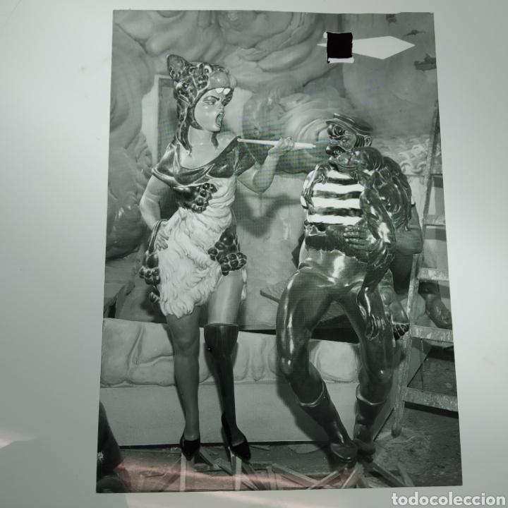 Postales: ¡IRREPETIBLE! Valencia Ninots de Falla EL PERGAMINO Lote de clichés de imprenta + positivo - Foto 6 - 222592410