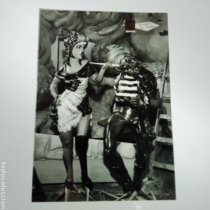 Postales: ¡IRREPETIBLE! Valencia Ninots de Falla EL PERGAMINO Lote de clichés de imprenta + positivo - Foto 3 - 222592410