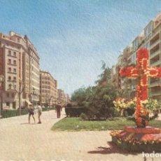 Postales: POSTAL VALENCIA TROQUELADA GRAN VIA RAMON Y CAJAL. FOTOCOLOR GRAFICAS MANÉN 1962. Lote 222676716