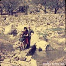 Postales: DIAPOSITIVA ESPAÑA VALENCIA BUÑOL 1965 GRAN FORMATO 55MM SPAIN FOTO PHOTO RETRATO FAMILIA. Lote 222905021