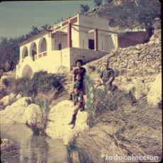 Postales: DIAPOSITIVA ESPAÑA VALENCIA BUÑOL 1965 GRAN FORMATO 55MM SPAIN FOTO PHOTO RETRATO FAMILIA. Lote 222905518