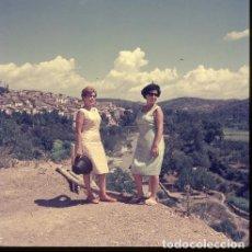 Postales: DIAPOSITIVA ESPAÑA CASTELLÓN TERESA 1965 GRAN FORMATO 55MM SPAIN FOTO PHOTO VISTAS MUJER RETRATO. Lote 223204047