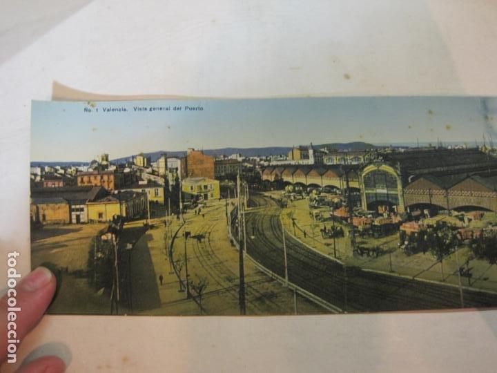 Postales: VALENCIA-VISTA GENERAL DEL PUERTO-POSTAL CUADRUPLE ANTIGUA-VER FOTOS-(K-1011) - Foto 2 - 224237658