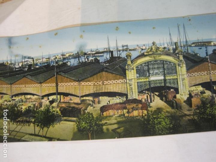 Postales: VALENCIA-VISTA GENERAL DEL PUERTO-POSTAL CUADRUPLE ANTIGUA-VER FOTOS-(K-1011) - Foto 3 - 224237658
