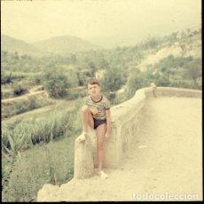 Postales: DIAPOSITIVA ESPAÑA CASTELLÓN TERESA 1966 GRAN FORMATO 55MM SPAIN FOTO PHOTO VISTAS NIÑO RETRATO. Lote 224432237