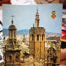 Postais: POSTAL VALENCIA TORRES SANTA CATALINA Y MIGUELETE SERIE 19 N 367 DURÁ VELASCO ESCRITA SELLADA RECORT. Lote 225806978