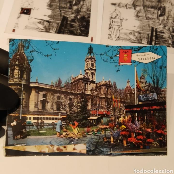 Postales: ¡IRREPETIBLE! Valencia Plaza del Caudillo, puesto de flores EL PERGAMINO 5283 Clichés +pruebas capas - Foto 2 - 225894245