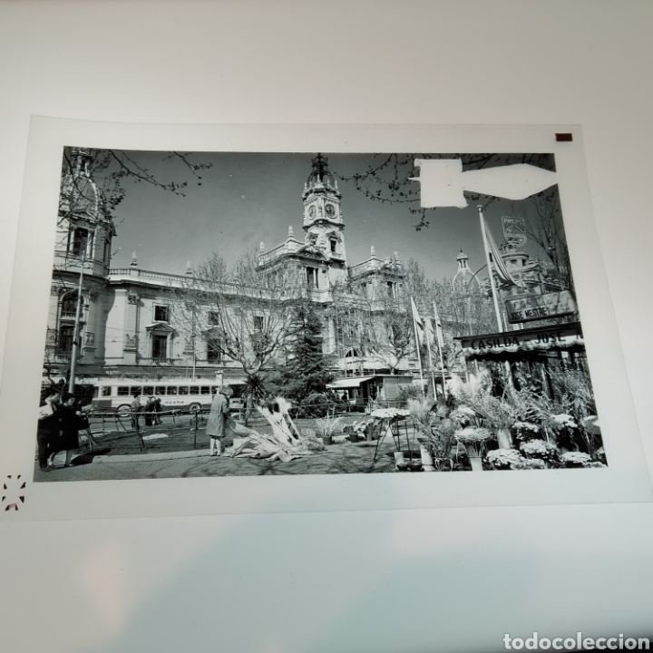Postales: ¡IRREPETIBLE! Valencia Plaza del Caudillo, puesto de flores EL PERGAMINO 5283 Clichés +pruebas capas - Foto 6 - 225894245