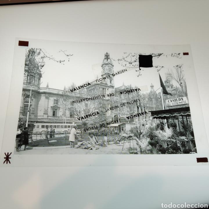 Postales: ¡IRREPETIBLE! Valencia Plaza del Caudillo, puesto de flores EL PERGAMINO 5283 Clichés +pruebas capas - Foto 8 - 225894245